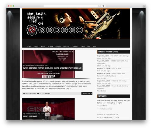Diabolik WordPress theme - djneogeo.com