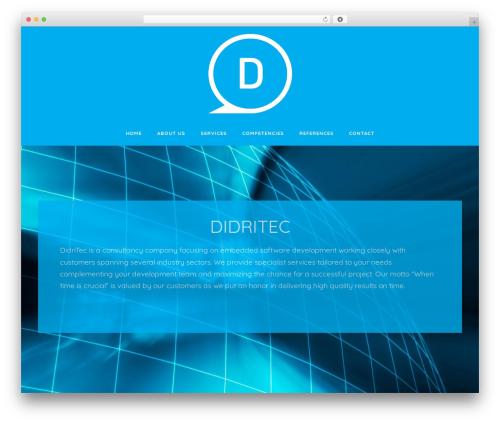 Didritec WordPress website template - didritec.com