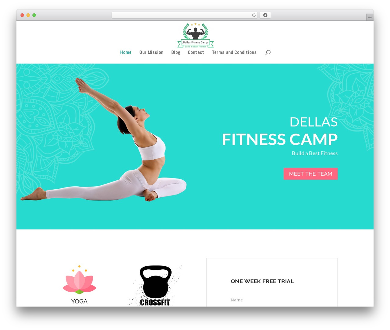 Divi WP template by Elegant Themes - dallasfitnesscamp.com