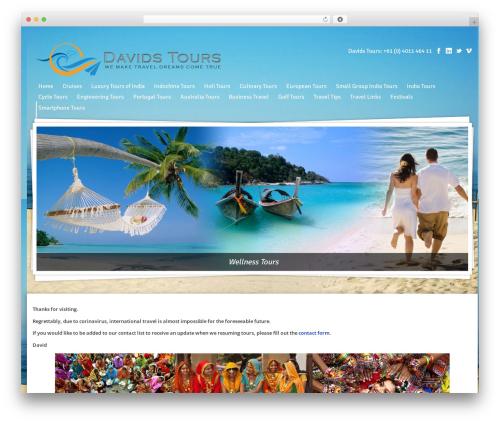 Midway company WordPress theme - davidstours.com.au