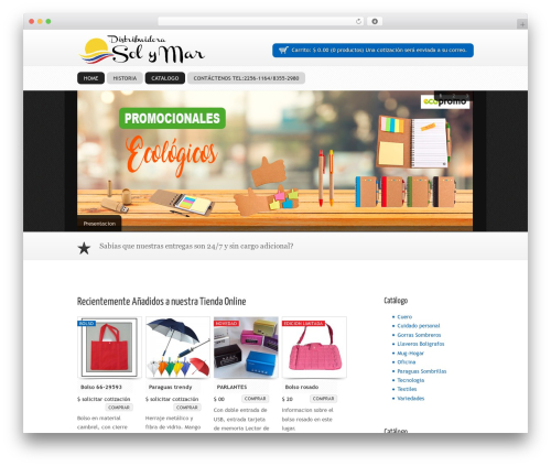 SOFA SuppaStore WordPress shopping theme - distribuidorasolymar.com