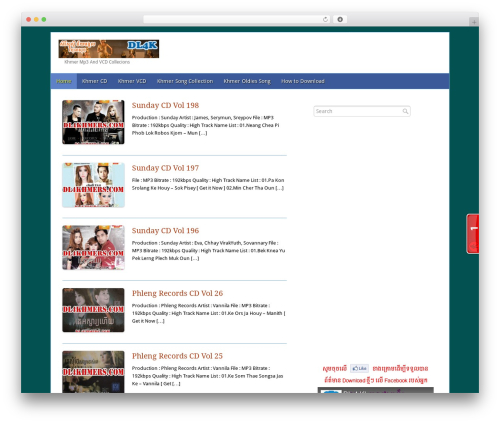 Theme WordPress Fresh And Clean - dl4khmers.com