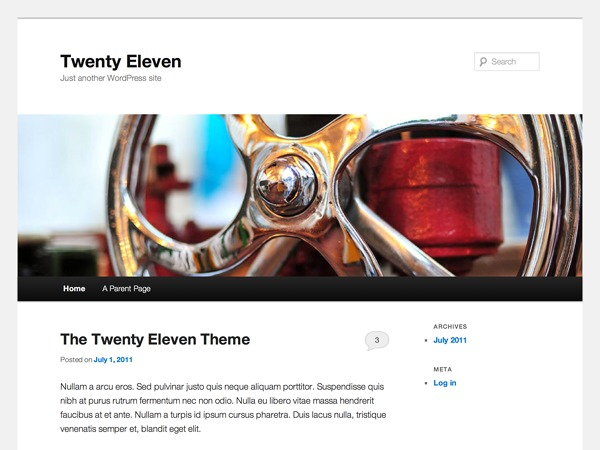 Twenty-Eleven Child WordPress theme design