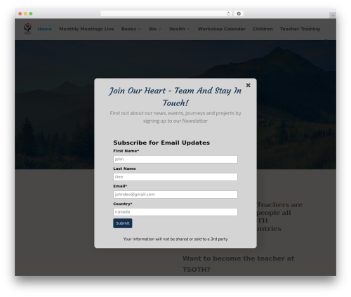 WordPress template Divi - danielmitel.com