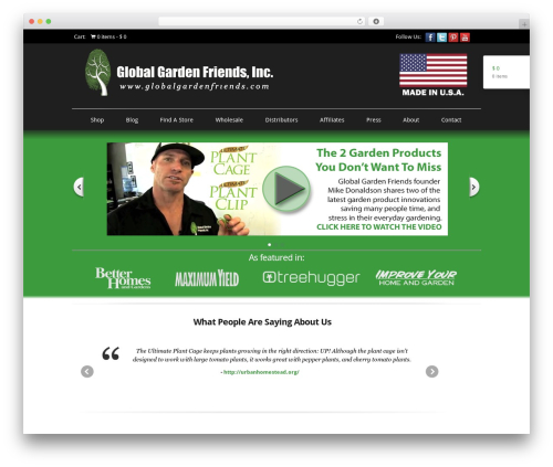 Boutique free WordPress theme - dev2.globalgardenfriends.com