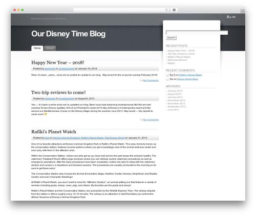 Fusion WordPress blog theme - disneytime.com