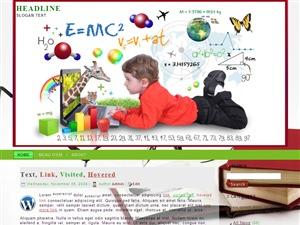 Get Education  ad WordPress blog template