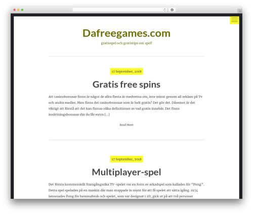 hexo WordPress theme - dafreegames.com