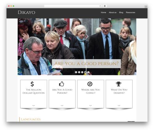 Isis Pro template WordPress - dikayo.com