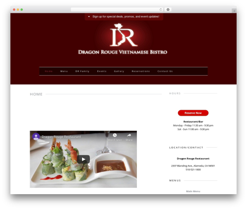 MH Elegance lite free WordPress theme - dragonrougerestaurant.com