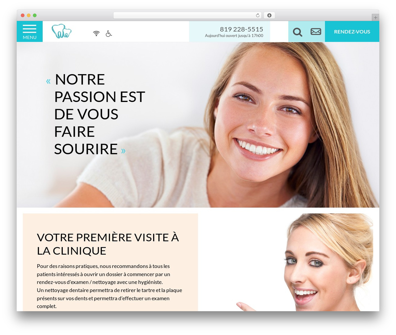PloggMedia best WordPress template - dentistemauricie.com