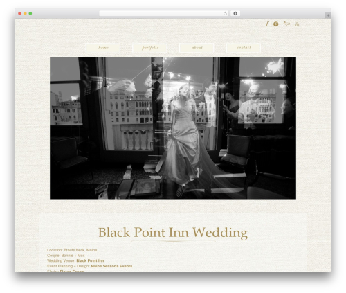 ProPhoto WordPress template for photographers - davidmurrayweddingsjournal.com