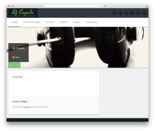 Template WordPress Renard - djcayala.com