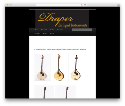 Twenty Eleven free WordPress theme - draperstringedinstruments.com