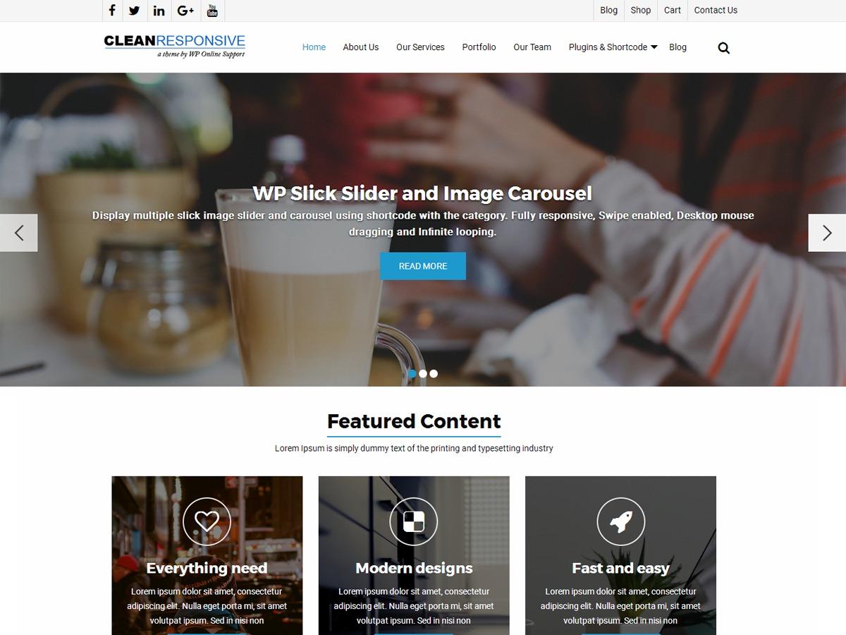 WordPress theme WPOS Clean Responsive