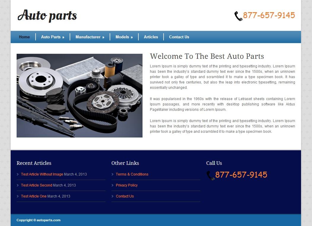 Auto Parts WordPress theme