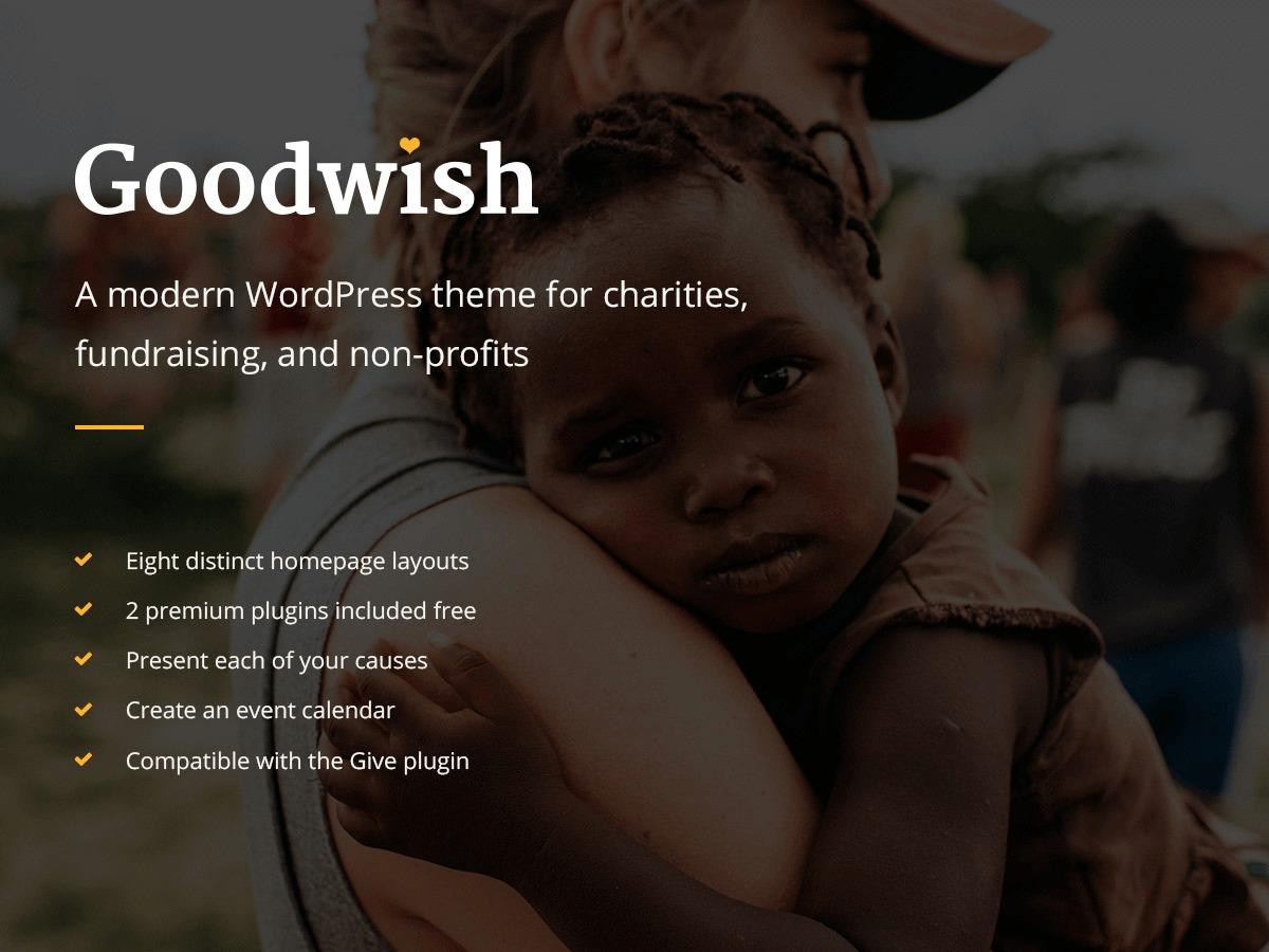 Goodwish WordPress theme design