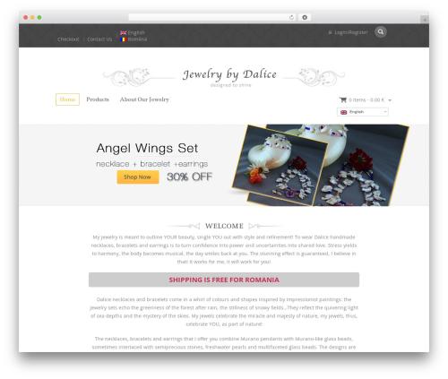 Jewellery best WordPress theme - dalice-jewelry.com