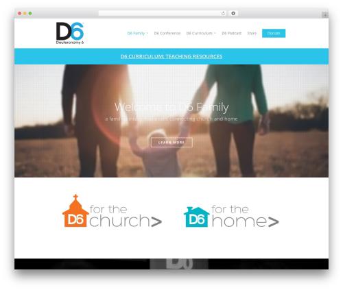 Salient best WordPress template - d6family.com