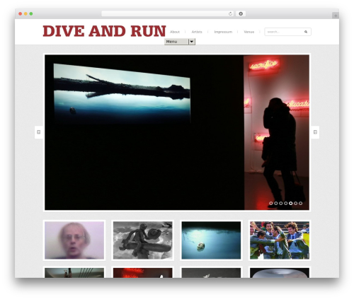 Share WordPress page template - dive-and-run.de