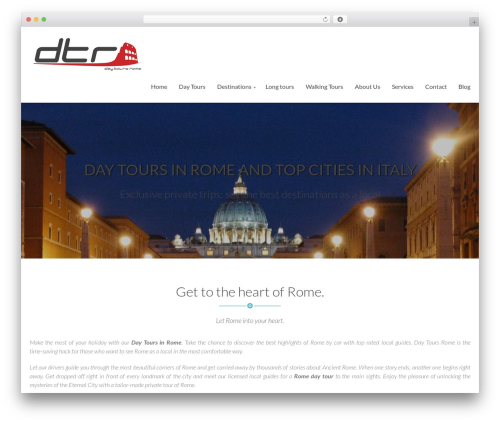 Simple WordPress travel theme - daytoursrome.com