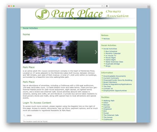 Template WordPress dkret3 - parkplaceowners.com