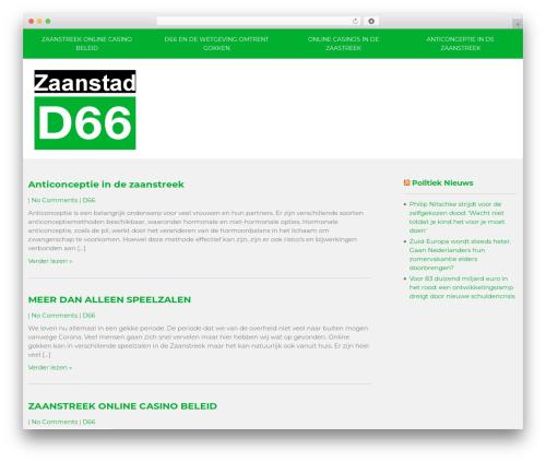 Vision Lite top WordPress theme - d66zaanstreek.nl