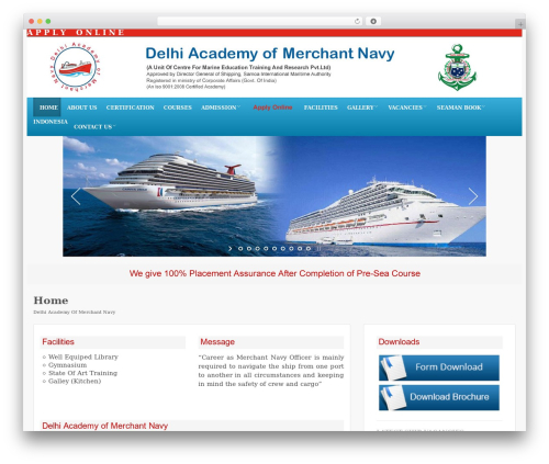 WordPress theme Edu - delhiacademy.in