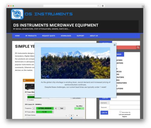 WordPress theme MH Squared - dsinstruments.com