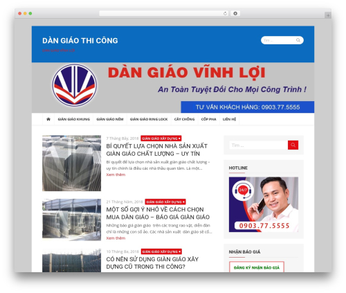 xMag WordPress template free - dangiaothicong.com