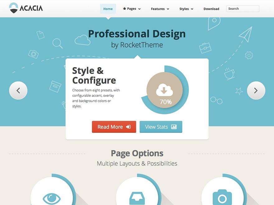 Acacia (Share on Theme123.Net) WordPress theme