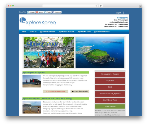 Best WordPress theme Fresh And Clean - daytourjeju.com
