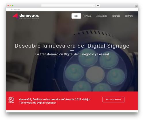 Jupiter WordPress website template - denevads.es