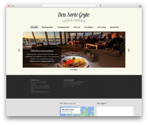 Theme WordPress Swatch - densortegryte.no