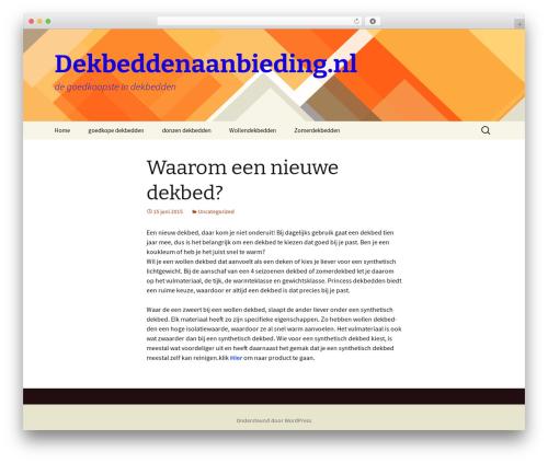 Twenty Thirteen template WordPress free - dekbeddenaanbieding.nl