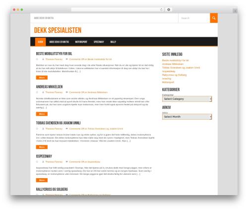 WordPress theme Koenda - dekk-spesialisten.com