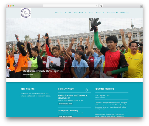 WordPress website template Peacemaker - ddp-cambodia.org