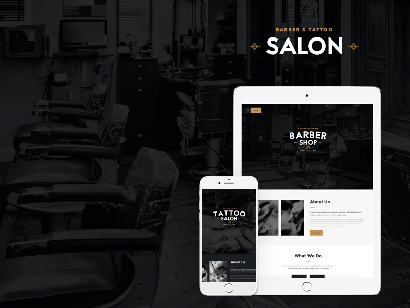 Barbershop WordPress shopping theme