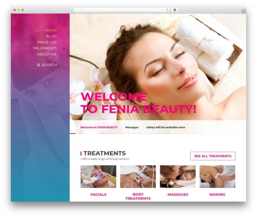 BeautySpot WordPress theme - feniabeauty.co.uk
