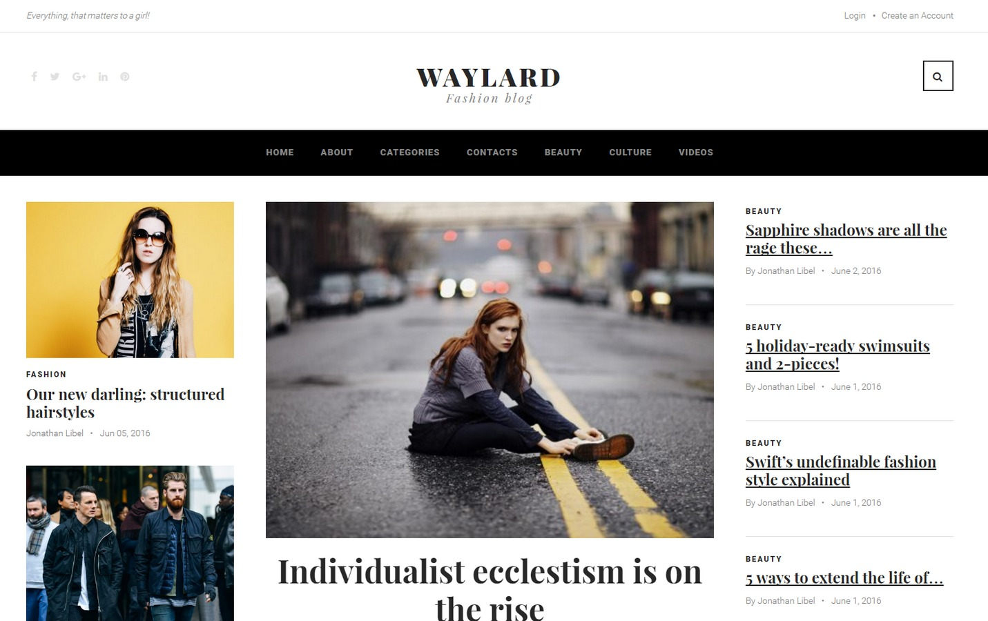 Best WordPress template Waylard