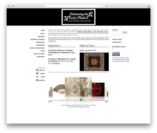 Free WordPress Collapsing Pages plugin - fashioningtheearlymodern.ac.uk