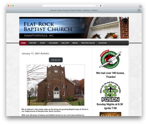 Builder theme WordPress - flatrockbc.com
