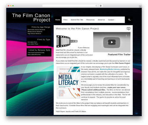 Corner top WordPress theme - filmcanonproject.com