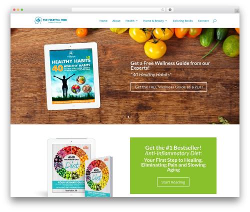 Divi best WordPress theme - fruitfulbooks.com