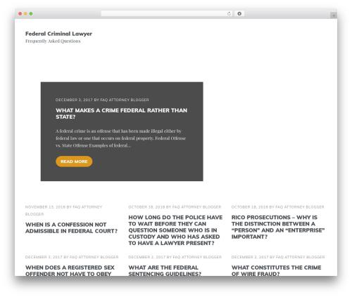 DroidPress WordPress template free - federalcrimefaq.com