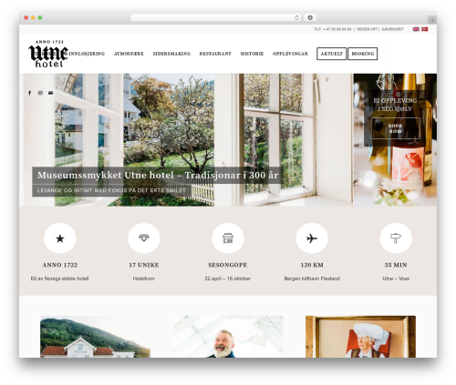 Enfold WordPress hotel theme - utnehotel.no