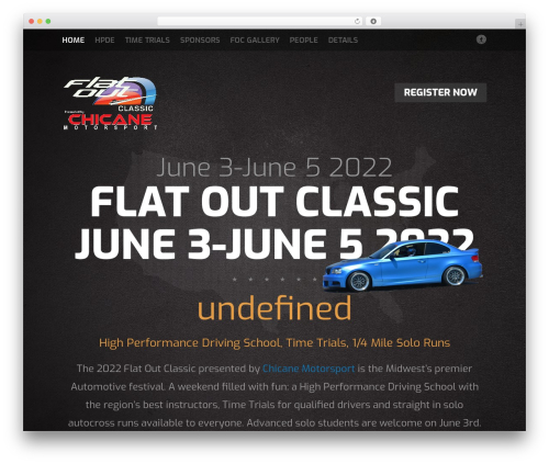 Fest automotive WordPress theme - flatoutclassic.com