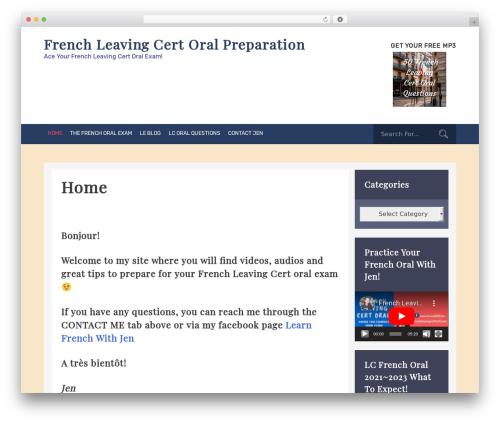 graduate free WordPress theme - frenchleavingcertoral.com