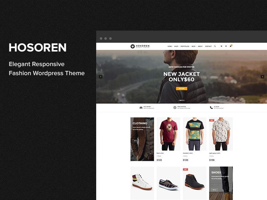 Hosoren personal WordPress theme