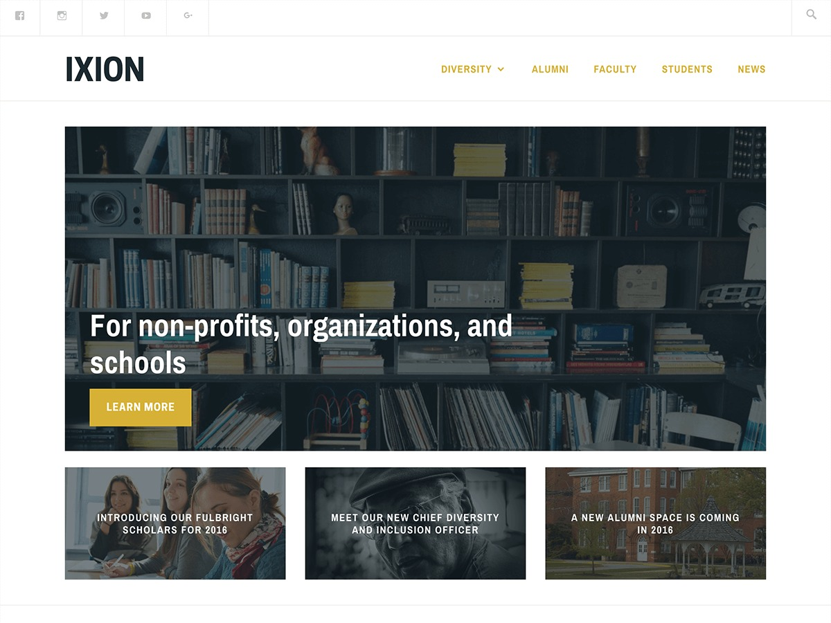 Ixion premium WordPress theme